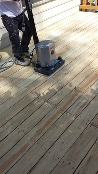Deck sanded and stained in Rockville MD